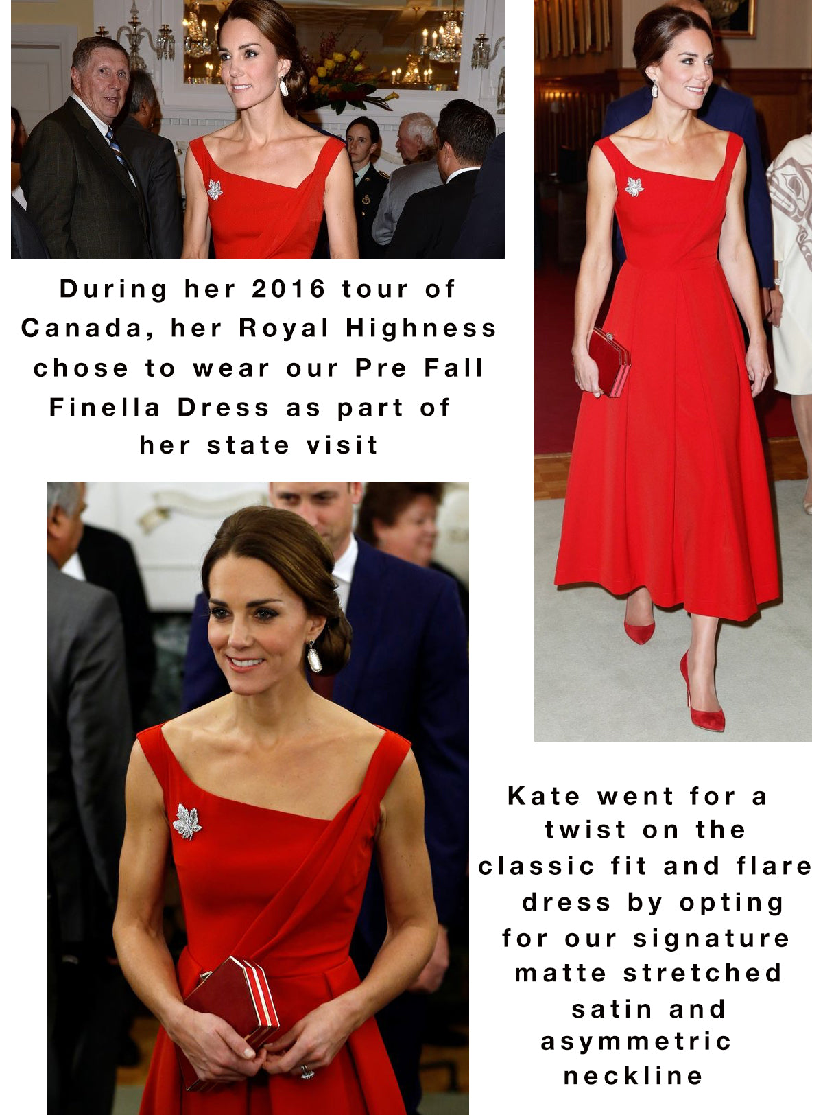 Kate Middleton red power dress by Preen