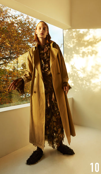 Preen by Thornton Bregazzi Pre-fall 18 look 10 Bella Top, Melena Skirt, Marley Mac and Sling Back Brogue.
