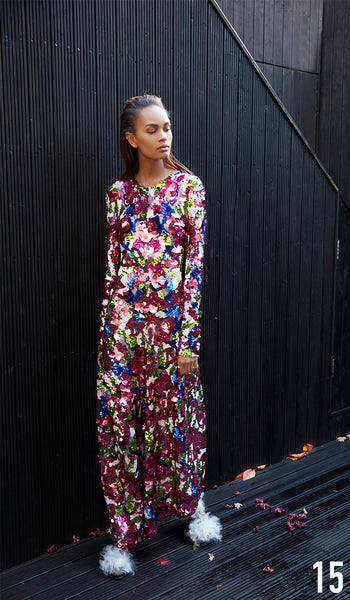 Preen by Thornton Bregazzi Pre-fall 18 look 15 Peggy Dress and Sling Back Brogue.