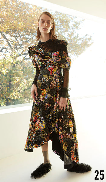 Preen by Thornton Bregazzi Pre-fall 18 look 25 Irene Dress and Sling Back Brogue.