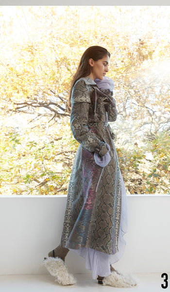 Preen by Thornton Bregazzi Pre-fall 18 look 3 Patricia Dress and Peggy Coat.