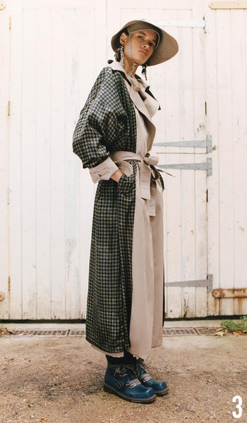 Preen By Thornton Bregazzi Pre-Fall 2019 Look 3 Savannah coat with Naomi Hat and Sofia Boot.