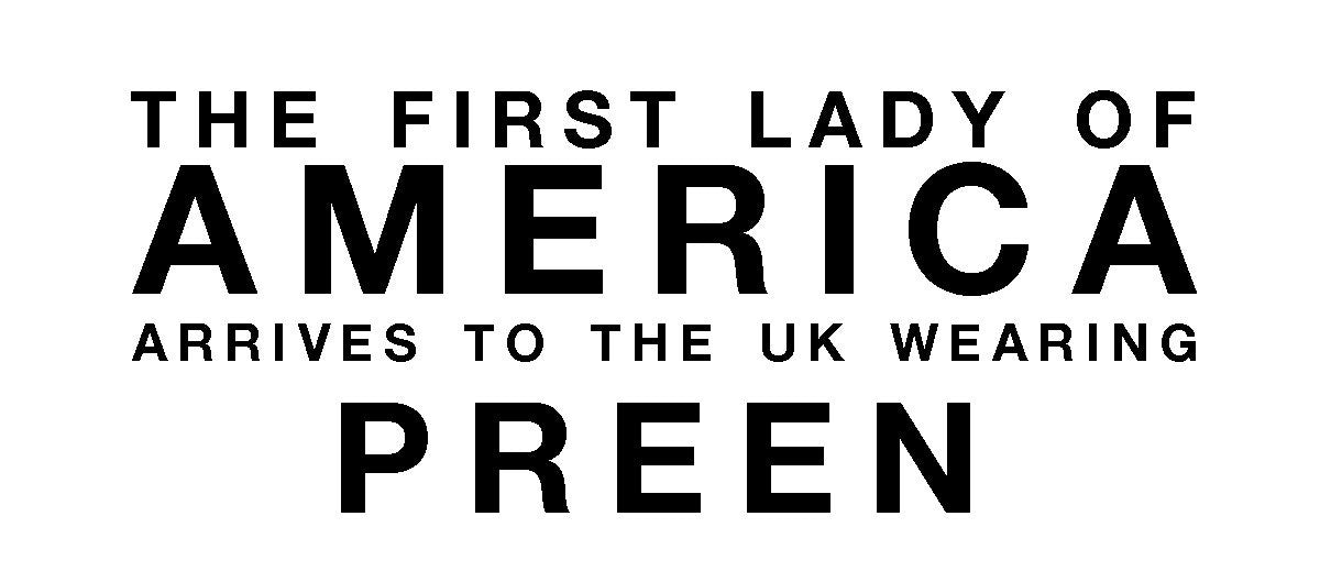 First lady of America arrives to the UK wearing Preen
