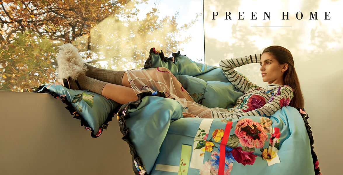 PREEN HOME PRE FALL 2018 EIDERDOWNS AND CUSHIONS