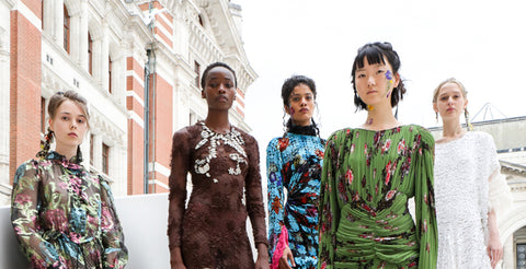 Preen by hornets Bregazzi Fashion in Motion Summer Solstice Retrospective catwalk show at the V&A