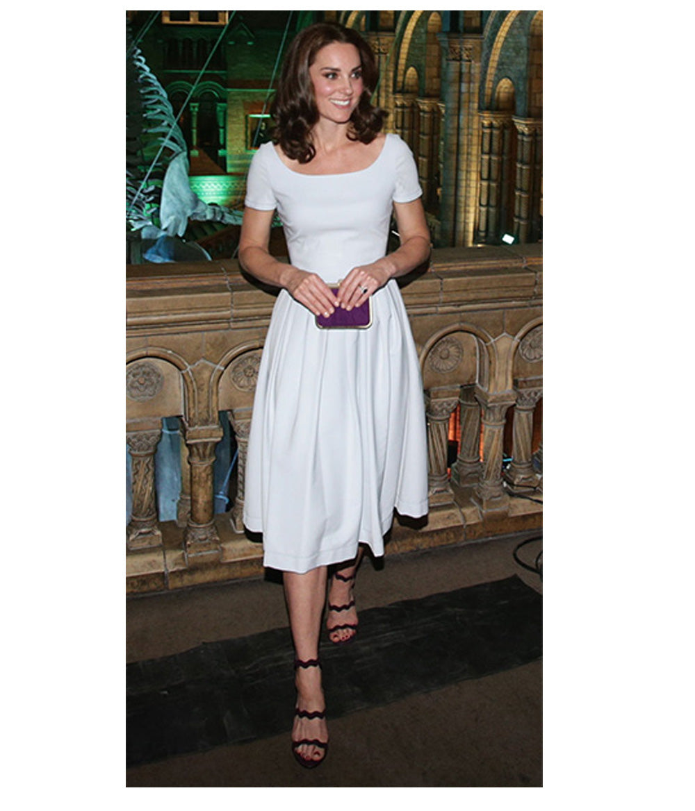 Kate Middleton HRH Duchess of Cambridge wearing designer Preen By Thornton Bregazzi Event Dress