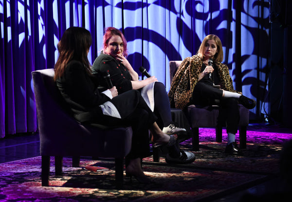 Amy Winehouse's stylist Naomi Parry, Winehouse's close friend Catriona Gourlay and music journalist Eve Barlow participate in a panel discussion Photo by Amanda Edwards/Getty Images