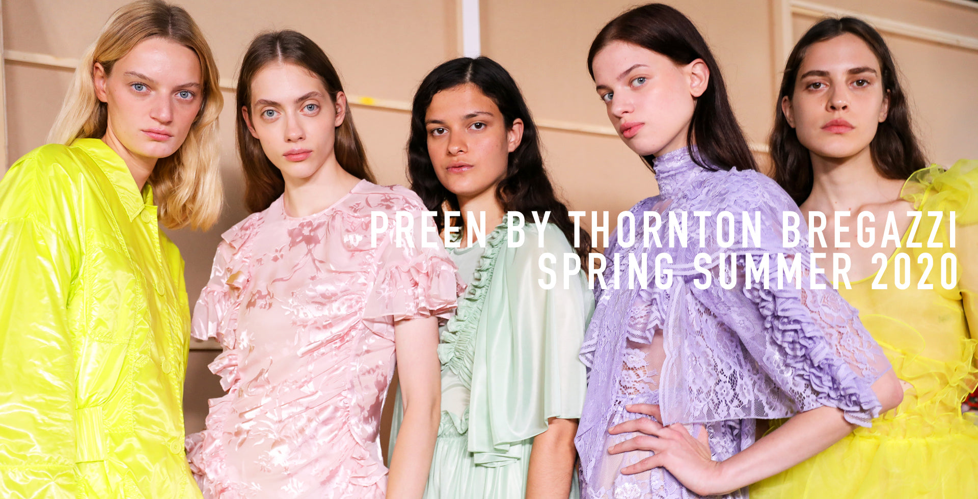 PREEN BY THORNTON BREGAZZI SPRING EE 2020 RUNWAY SHOW FOR LOND