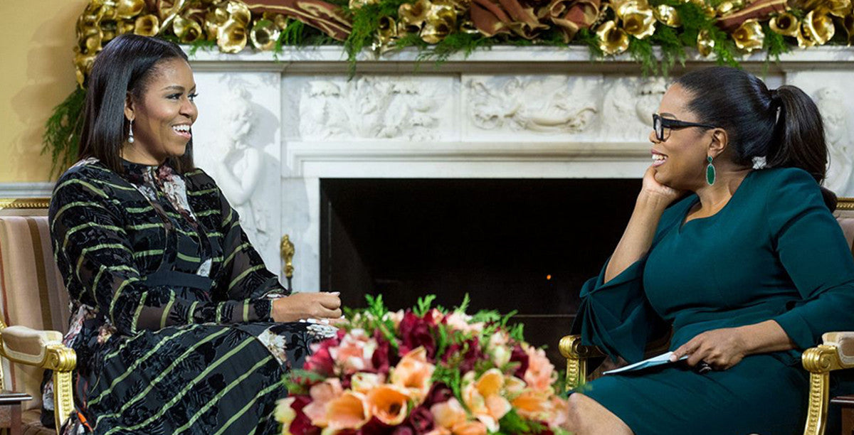 Michelle Obama wearing Preen for Oprah interview