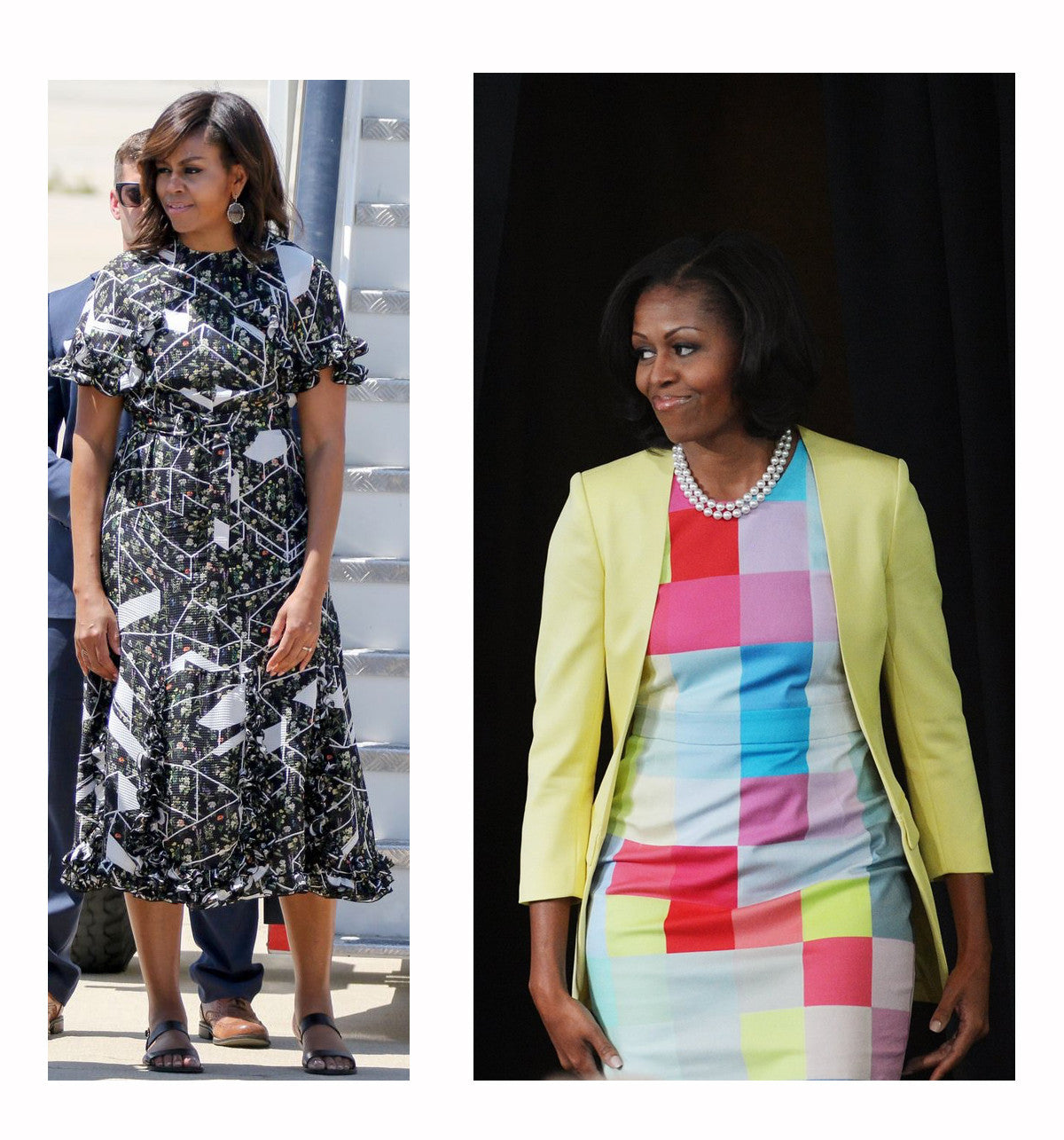 Michelle Obama wearing Preen by Thornton Bregazzi