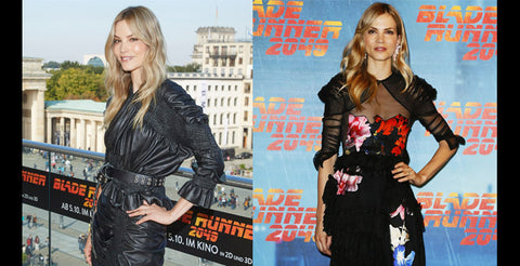 Sylvia Hoeks wears Preen by Thornton Bregazzi for Blade Runner 2049 promotion