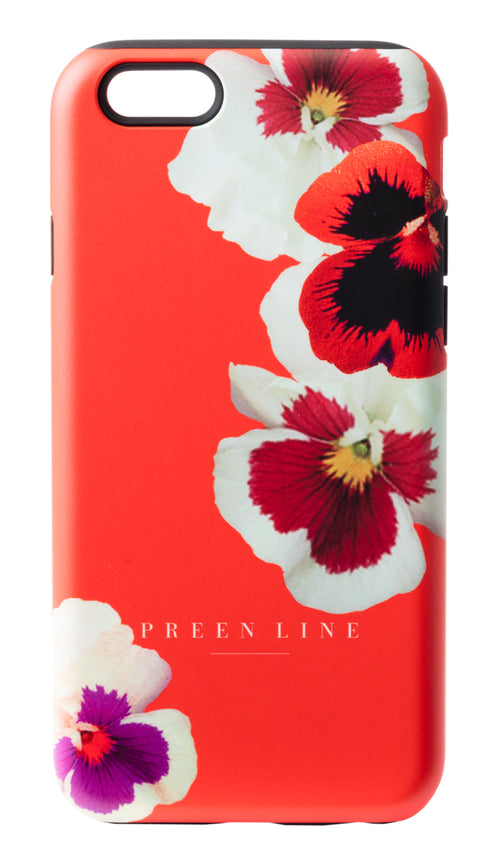 PREEN LINE LUXURY DESIGNER SCATTERED PANSY PRINT iPHONE CASE ON SALE