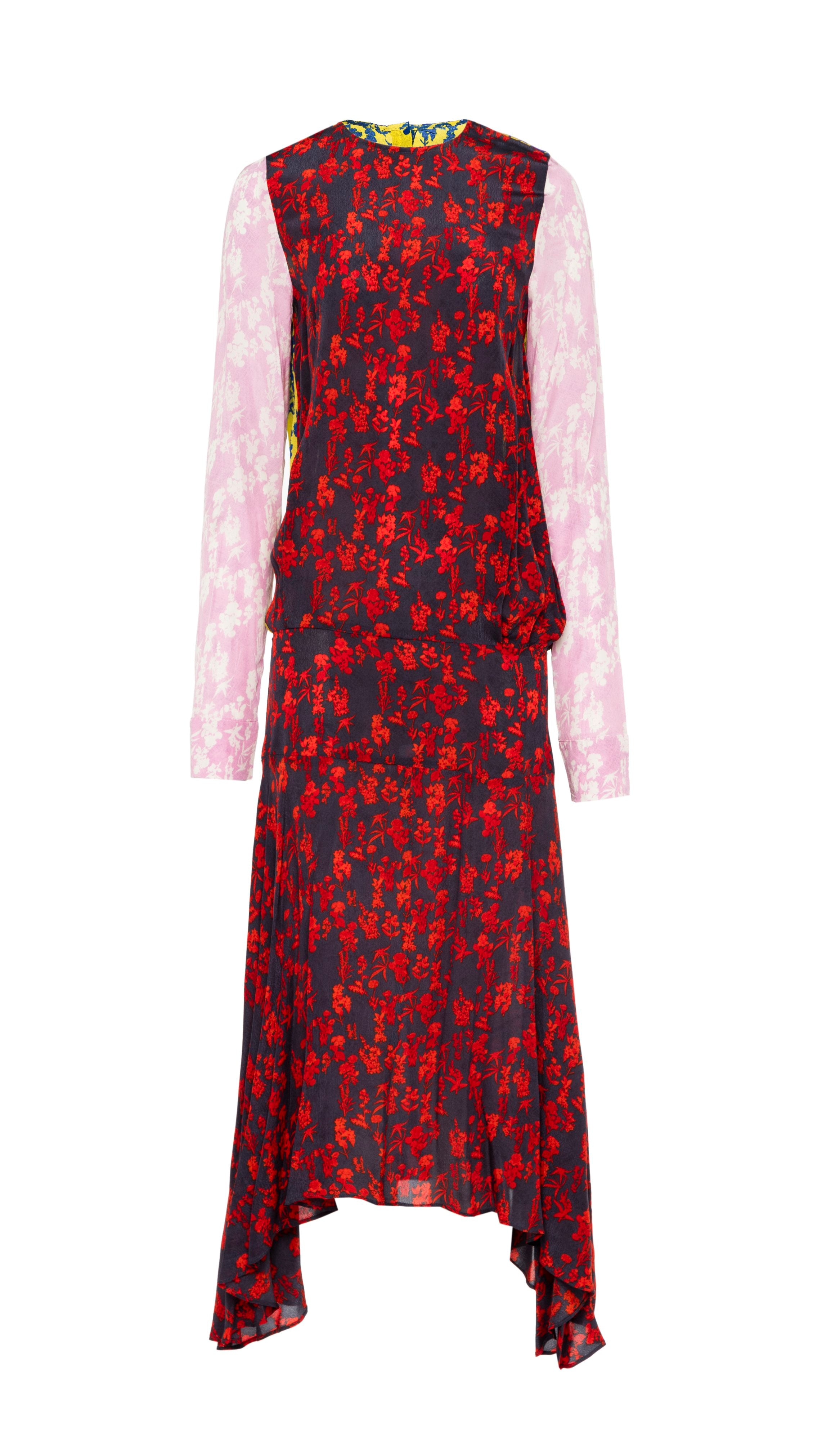 Felicity floral-print satin-crepe dress Preen Discount Reliable Discount Low Cost Cheap For Nice Free Shipping From China YVU1b