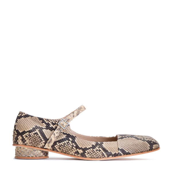 SS18 LOW DOLLY SHOE PYTHON