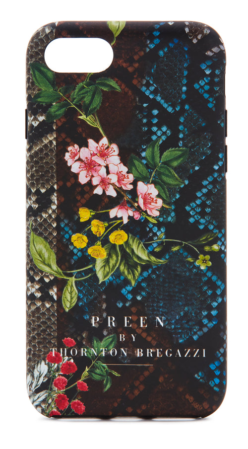 PREEN BY THORNTON BREGAZZI LUXURY DESIGNER FLORAL SNAKE PRINT IPHONE CASE