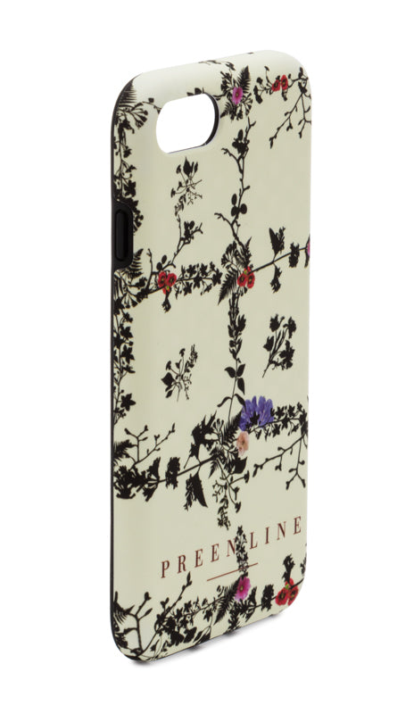 PREEN LINE LUXURY DESIGNER IPHONE CASE IN SIGNATURE IVORY FLORAL PRINT DESGIN
