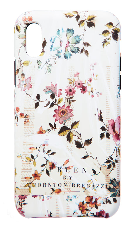 IPHONE CASE BLACK PLASTIC FOXGLOVE