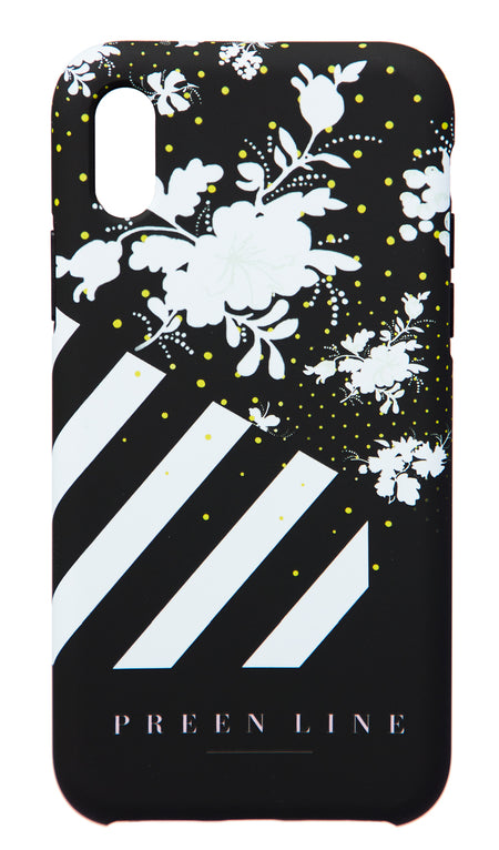IPHONE CASE FLORAL VINE PRINT KHAKI