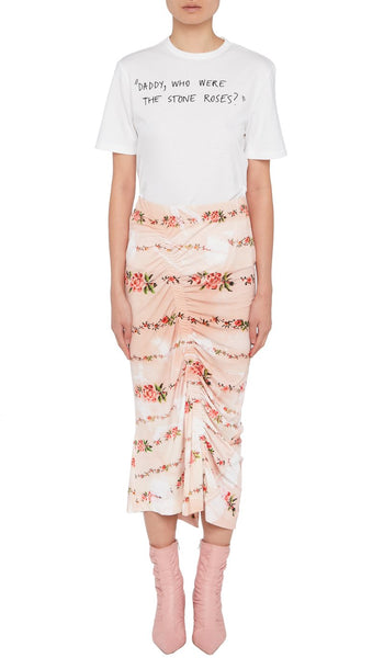 Tracy Skirt Peach Petal Chain