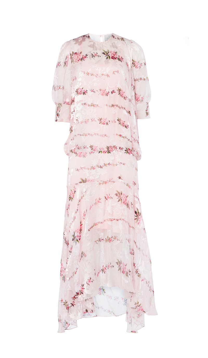 Katy Dress Pink Petal Chain