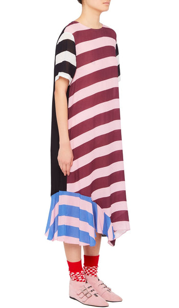 Hana Dress Multi Stripe Pink