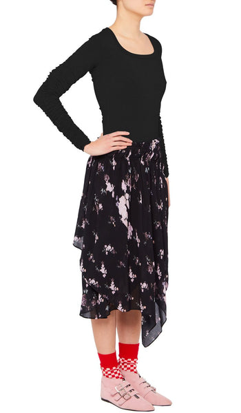 Sumin Skirt Wild Flower Black