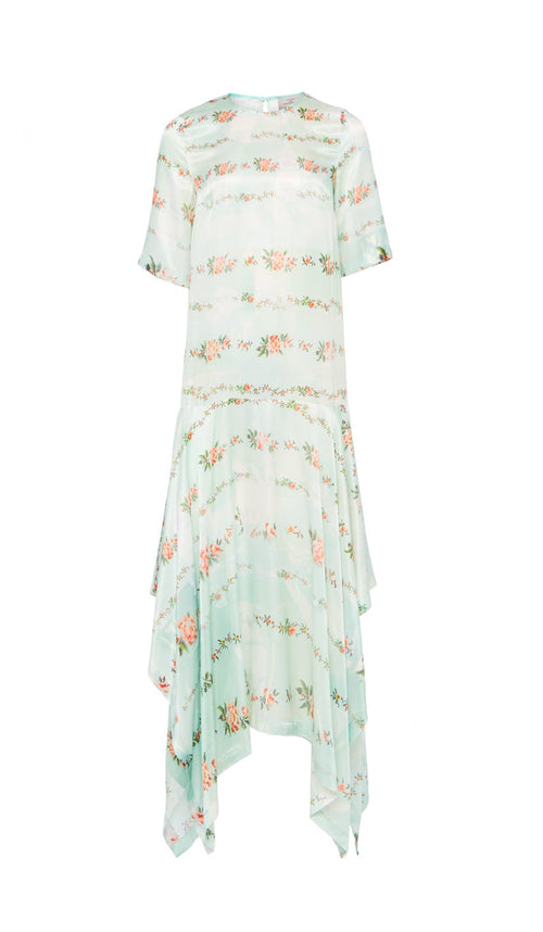 Lindsay Dress Mint Petal Chain