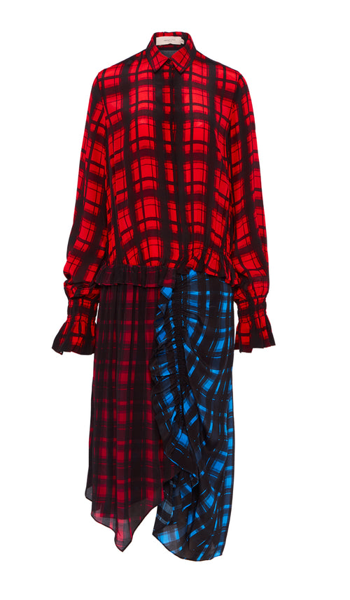 Anz Dress Multi Plaid