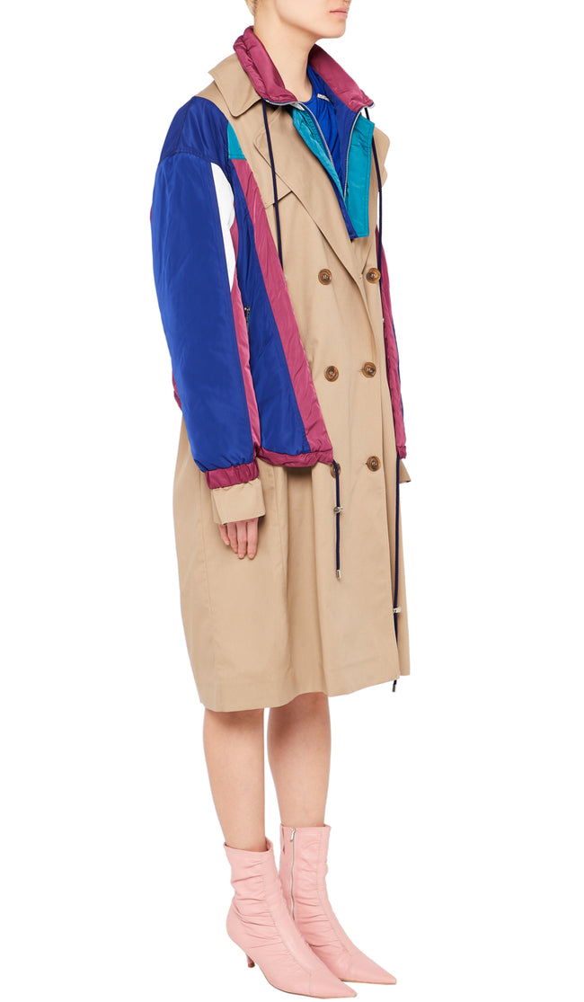 Camel and multi Colour Amanda Coat