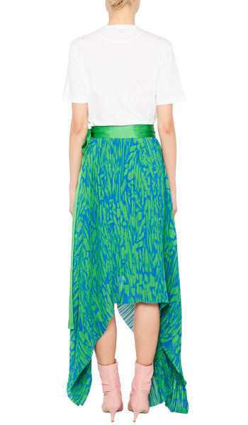 Maria Skirt Blue and Green Pavement
