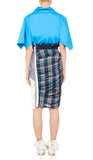 Dolly Skirt White, Navy and Blue Check