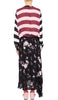 Daisy Dress Black Wild Flower and Multi Stripe