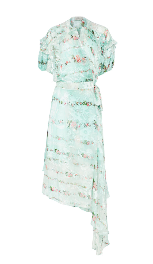 Ashley Dress Mint Petal Chain