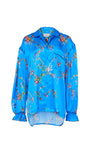 Rose Shirt Blue Garland