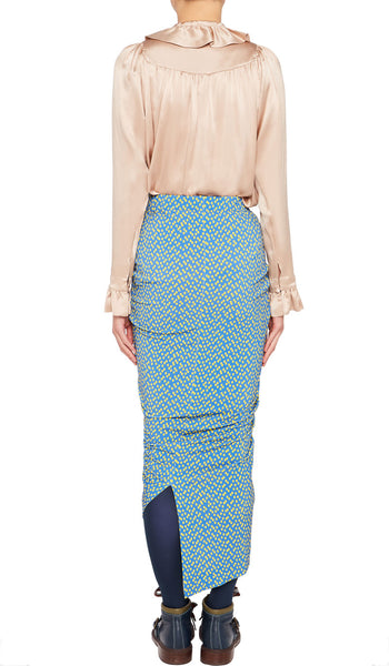 YADINNA SKIRT BLUE TETRIS