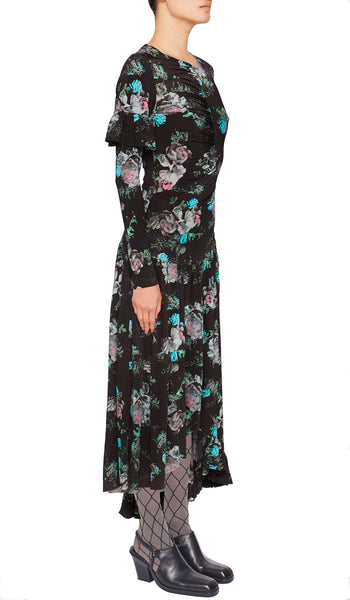 ASHLEY DRESS BLACK BOUQUET