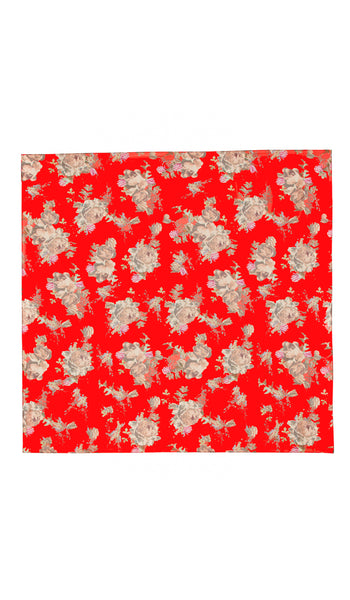 EXCLUSIVE LARGE RED BOUQUET SCARF