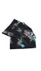 BLACK BOUQUET SET OF 4 NAPKINS
