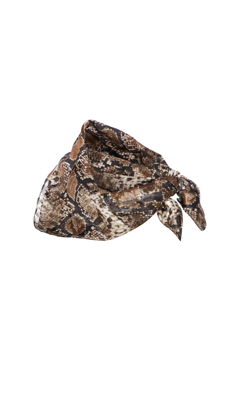 EXCLUSIVE SMALL SNAKE SCARF