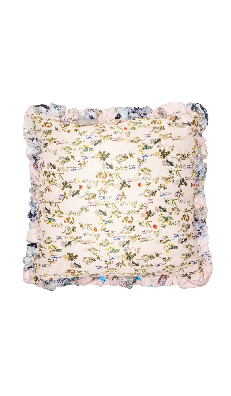 PINK HERITAGE FLORAL  CUSHION