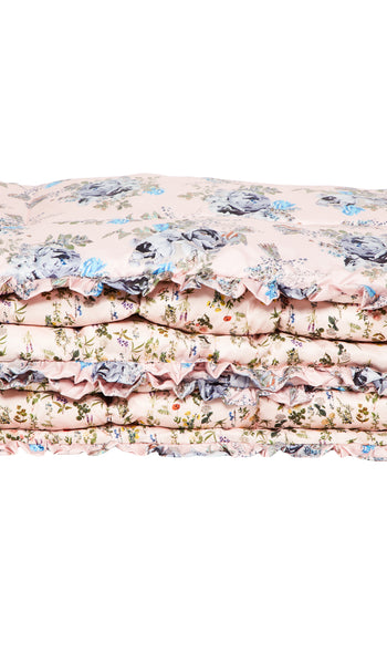 LARGE PINK BLOSSOM QUILTED EIDERDOWN