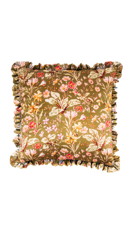 LARGE PINK HERITAGE STRIPE & GREEN WILD ROSE QUILTED EIDERDOWN