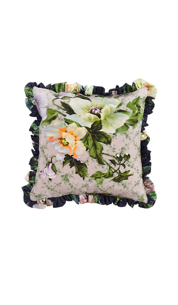 OSAKA FLORAL GREEN MINI CUSHION
