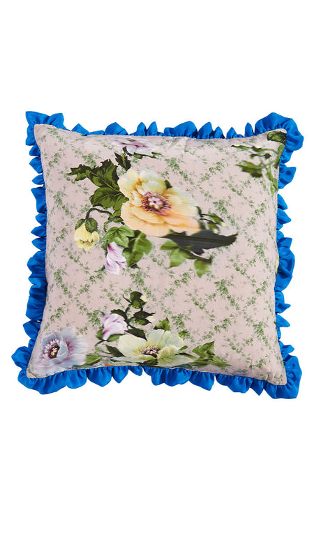 GRID FLORAL CUSHION