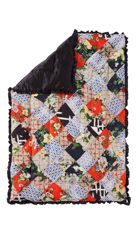 RED LOTUS FLOWER QUILTED EIDERDOWN