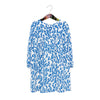 EXCLUSIVE MINI JENNIFER DRESS BLUE LEAVES