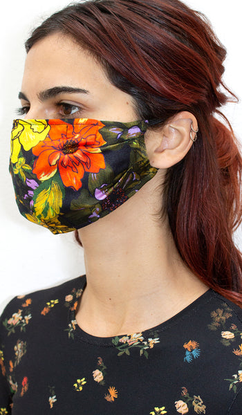 GREEN FLOWER BOMB FACE COVERING