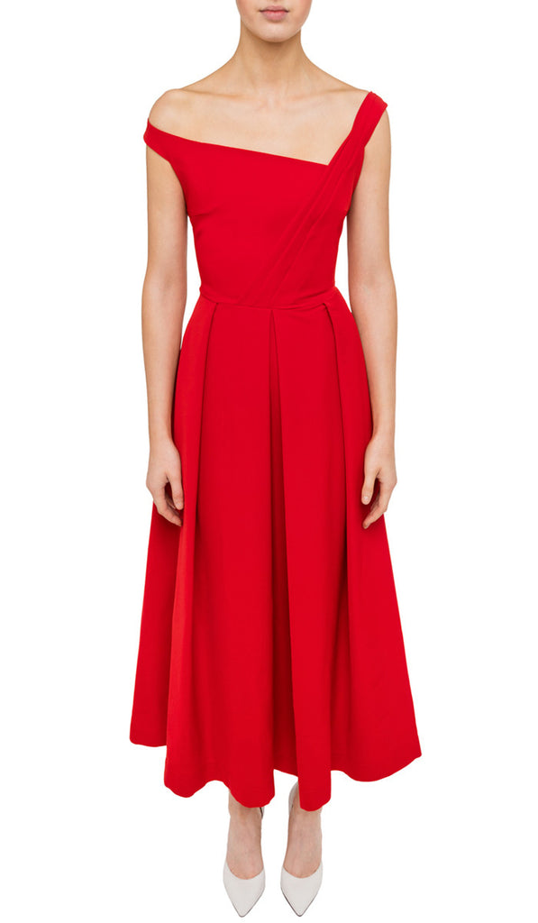 Red sweetheart evening dress