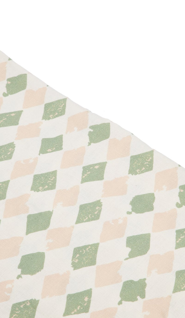 PISTACHIO HARLEQUIN LARGE TABLE CLOTH
