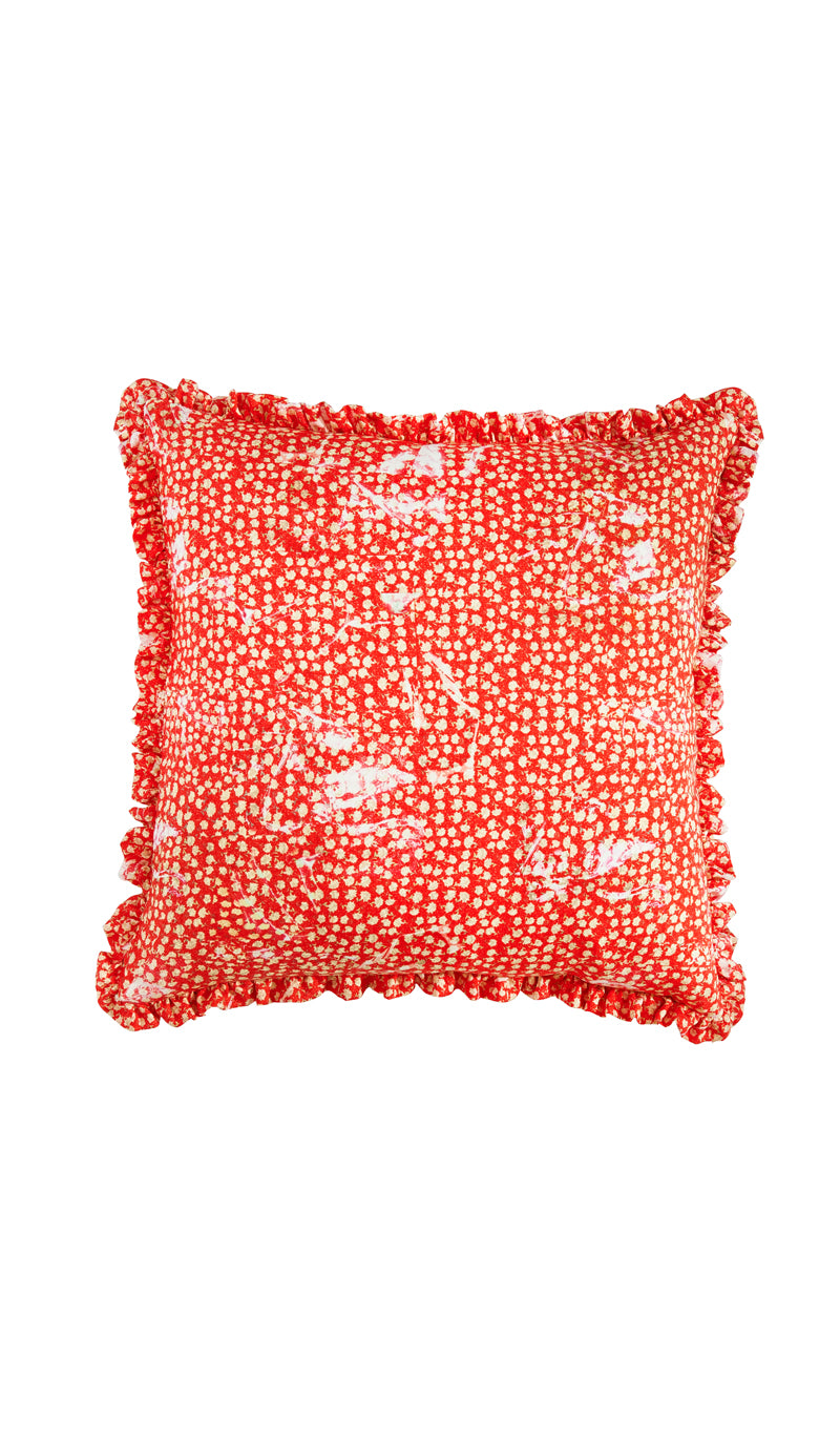 RED PEONY CUSHION